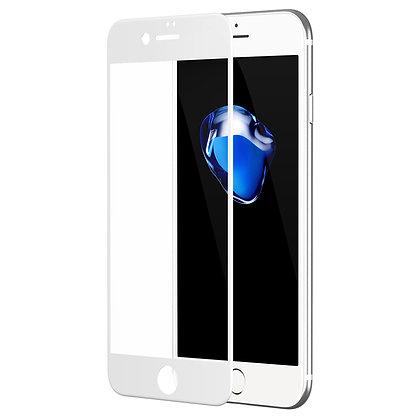 Высокопрочное защитное стекло 5D для iPhone 8 Plus / 7 Plus с белым кантом