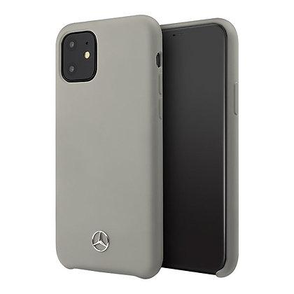 Чехол Mercedes Silicone Line для iPhone 11, серый