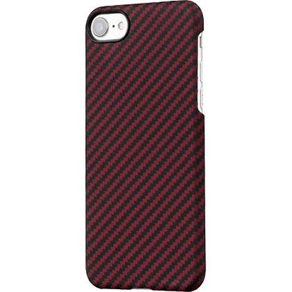 Чехол PITAKA MagCase для iPhone 7/8 бордовый карбон (Twill)