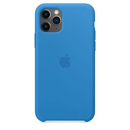 Силиконовый чехол для iPhone 11 Pro Max, цвет «синяя волна»
