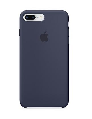 Силиконовый чехол для iPhone 8 Plus/7 Plus, тёмно-синий цвет