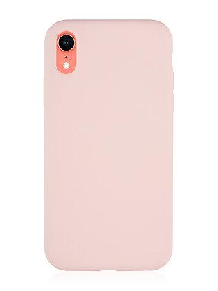 Силиконовой чехол VLP для iPhone XR, нежно-розовый