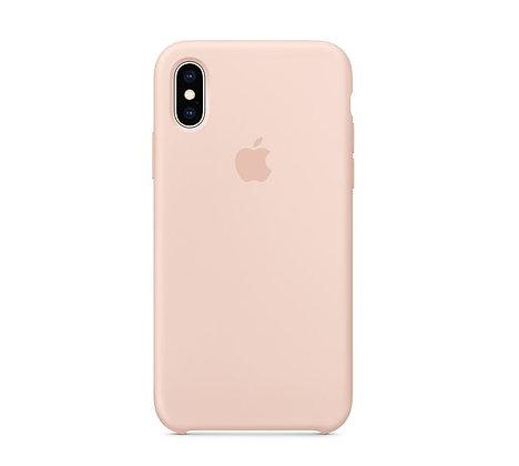 Силиконовый чехол для iPhone XR, цвет «розовый песок»