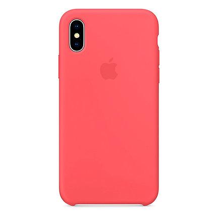 Силиконовый чехол для iPhone XS / X, цвет Raspberry