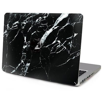 "Матовый чехол HardShell Case для Macbook Pro 13"" чёрный мрамор"