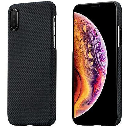 Чехол PITAKA MagCase для iPhone X/XS чёрный карбон (Plain)