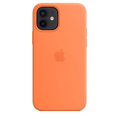 Силиконовый чехол MagSafe для iPhone 12 / 12 Pro, цвет «кумкват»