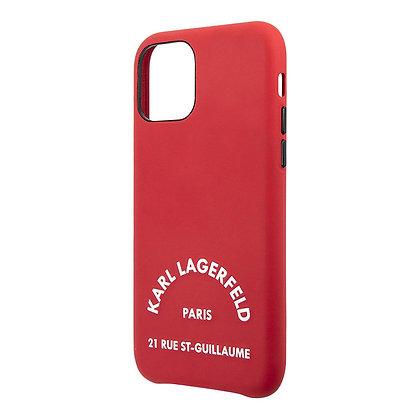 Чехол Karl Lagerfeld PU Leather Rue Saint Guillaume для iPhone 11, красный