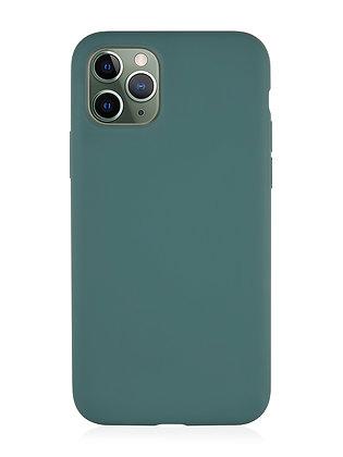 Силиконовой чехол VLP для iPhone 11 Pro Max, тёмно-зелёный