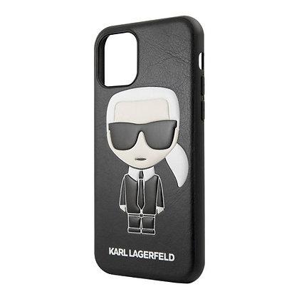 Чехол Karl Lagerfeld PU Leather Iconic Karl Hard для iPhone 11 Pro, черный