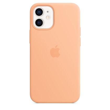 Силиконовый чехол MagSafe для iPhone 12 / 12 Pro, светло-абрикосовый цвет