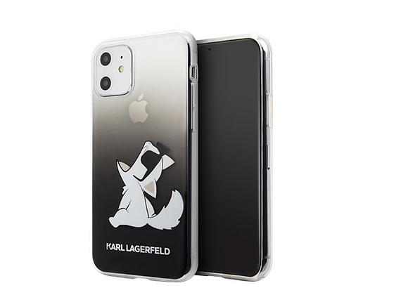 Чехол Karl Lagerfeld Fun Choupette Sunglasses Gradient для iPhone 11, черный
