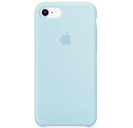 Силиконовый чехол для iPhone 8/7, цвет светло-голубой