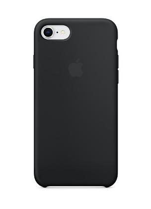 Силиконовый чехол для iPhone 8/7, чёрный цвет