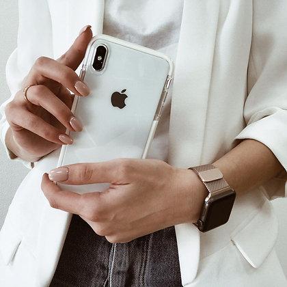 """Силиконовый чехол """"Лёд"""" на iPhone XsMax (Белый)"""