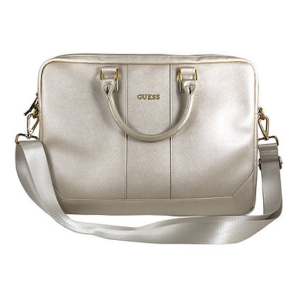 Сумка Guess Saffiano Bag для ноутбука до 16 дюймов, бежевая