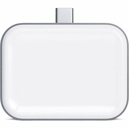 БЗУ Satechi USB-C Wireless Charging Dock для AirPods серый космос (ST-TCWCDM)