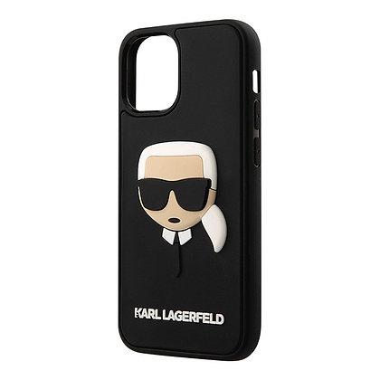 Чехол Karl Lagerfeld 3D Rubber Karl's head Hard для iPhone 12 mini, черный