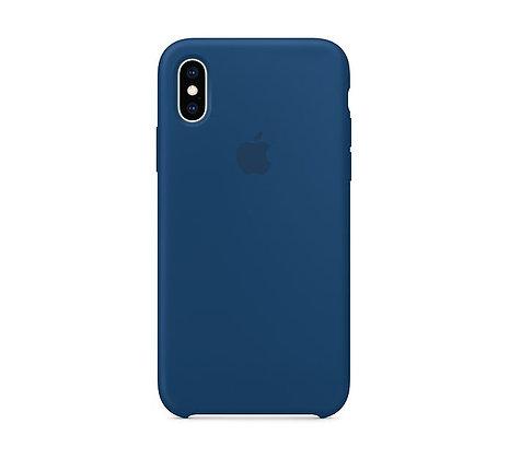 Силиконовый чехол для iPhone XS/X, цвет «морской горизонт»