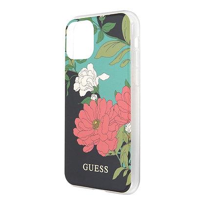 Чехол Guess Flower Hard Shiny N.1 для iPhone 12 / 12 Pro, зеленый