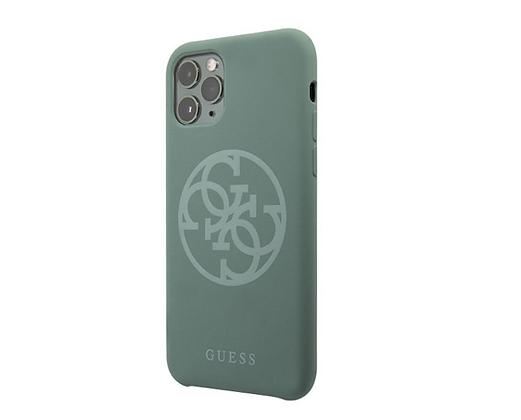 Чехол Guess 4G Tone on Tone Silicone Hard для iPhone 11 Pro Max, зеленый