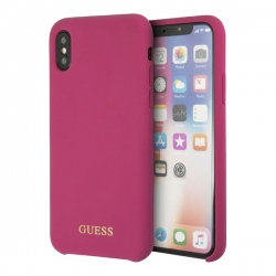 Чехол Guess для iPhone XS Max – Silicone, винный