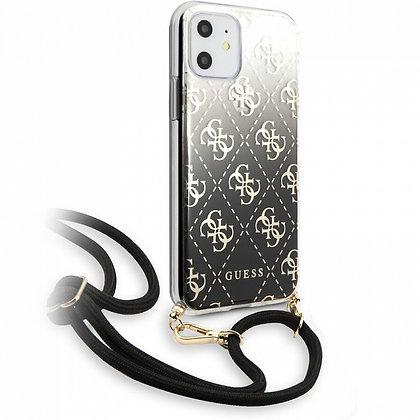 Чехол Guess 4G Cord Collection Hard для iPhone 11 чёрный