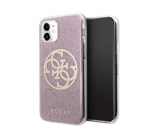 Чехол Guess 4G Circle Logo Hard Gradient для iPhone 11, розовый