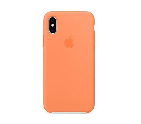 Силиконовый чехол для iPhone XS/X, цвет «свежая папайя»