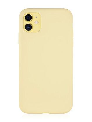 Силиконовой чехол VLP для iPhone 11, жёлтый
