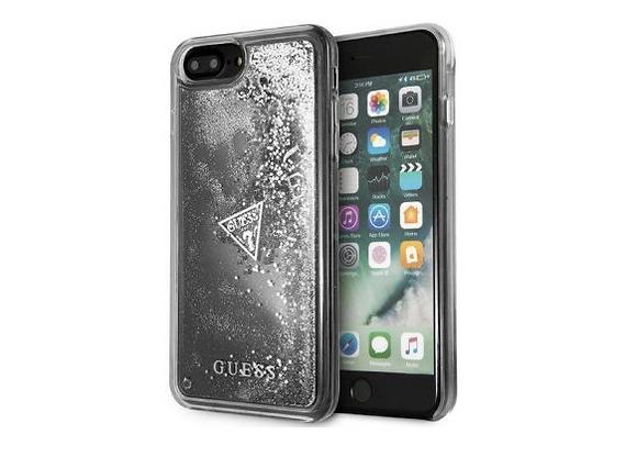 Чехол Guess Glitter для iPhone 7 Plus / 8 Plus, серебристый