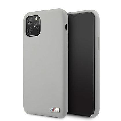 Чехол BMW M-Collection Liquid Silicone для iPhone 11 Pro Max серый