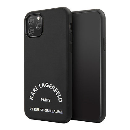 Чехол Karl Lagerfeld PU Leather Rue Saint Guillaume для iPhone 11 Pro, черный