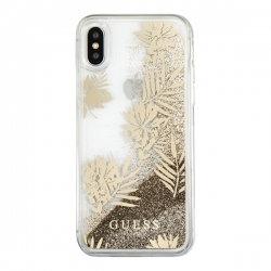 Чехол Guess для iPhone XS/X – Glitter Palm Spring, золотой