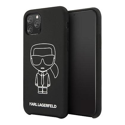 Чехол Karl Lagerfeld Liquid silicone Ikonik outlines для iPhone 11 Pro