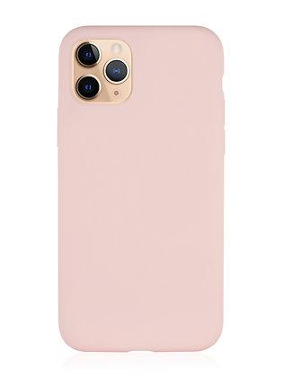 Силиконовой чехол VLP для iPhone 11 Pro, нежно-розовый