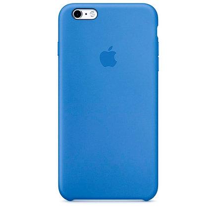 Силиконовый чехол для iPhone 6/6s, цвет лазурный