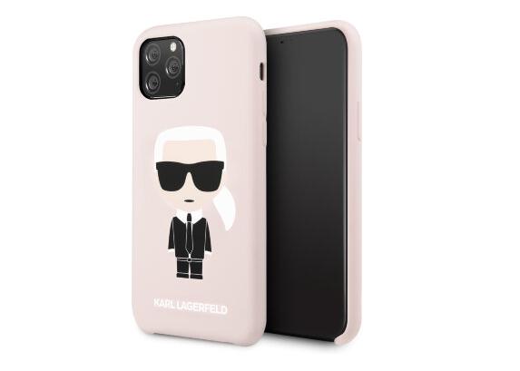 Чехол Karl Lagerfeld Liquid silicone Iconic для iPhone 11 Pro, розовый
