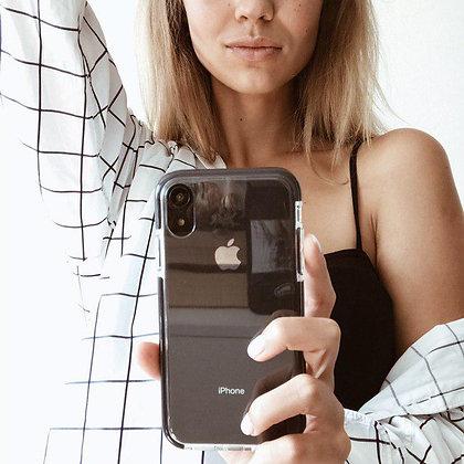 """Силиконовый чехол """"Лёд"""" на iPhone XR (Черный)"""