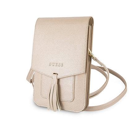 Сумка-чехол Guess Wallet Bag Saffiano look для смартфонов, бежевая