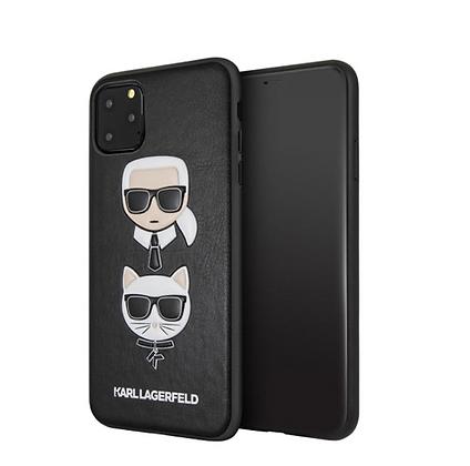 Чехол Karl Lagerfeld PU Leather Karl and Choupette Hard для iPhone 11 Pro