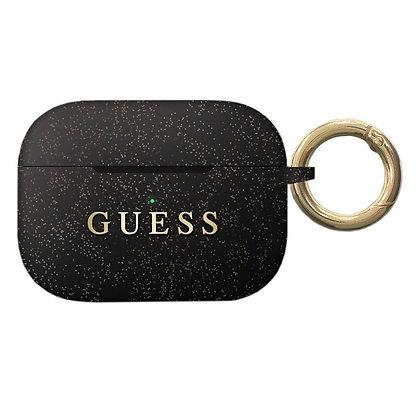 Чехол Guess Silicone Case с кольцом для Airpods Pro, черный