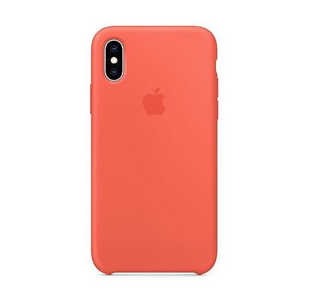 Силиконовый чехол для iPhone XS Max, цвет «спелый нектарин»