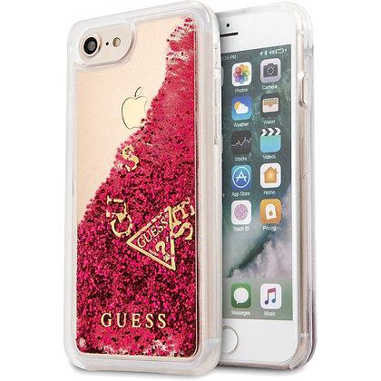 Чехол Guess Liquid Glitter для Phone 7/8 красный