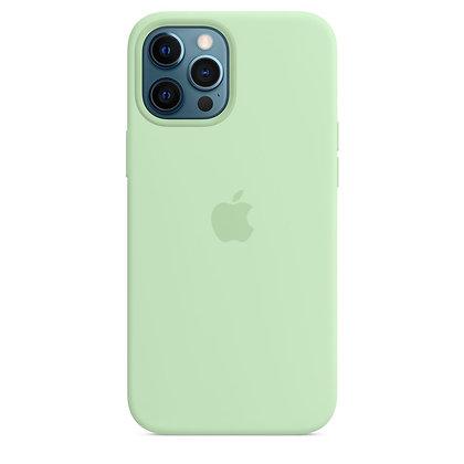 Силиконовый чехол MagSafe для iPhone 12 Pro Max, фисташковый цвет