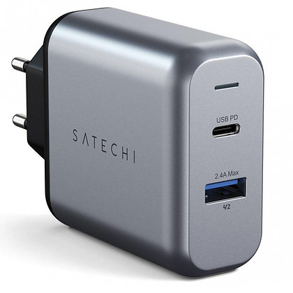 СЗУ Satechi 30W Dual-Port Travel Charger (ST-MCCAM-EU) Space Gray