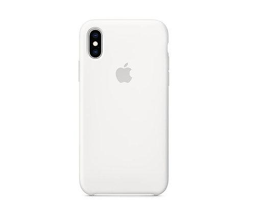Силиконовый чехол для iPhone XR, белый цвет