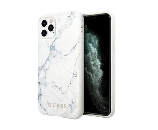 Чехол Guess Marble Design Hard для iPhone 11 Pro Max, белый