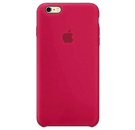 Силиконовый чехол для iPhone 6/6s, цвет красная роза