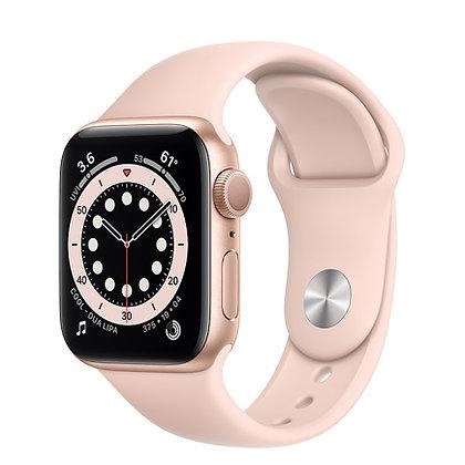 Apple Watch Series 6, 40mm, корпус из алюминия золотого цвета